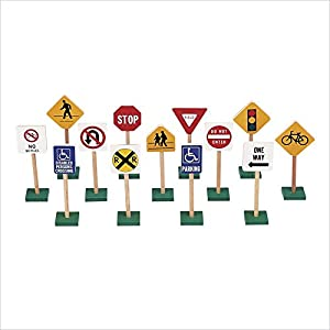 Guidecraft Miniature Traffic Signs
