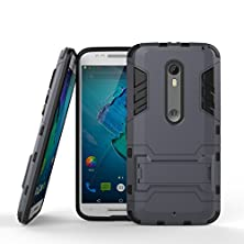 buy Moto X Pure Edition Case,Moto X Style Case,Aomax@ Armor [Dual Layer] Hybrid Slim Fit Protective With Kick-Stand Feature Shock Absorption Protection Cover For Moto X Style Gtx Armor Metal Slate