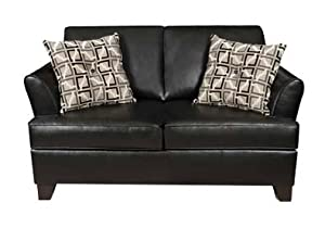 Incredible Simmons Urban Black Soft Leather Twin Size Sleeper Sleeper Dailytribune Chair Design For Home Dailytribuneorg