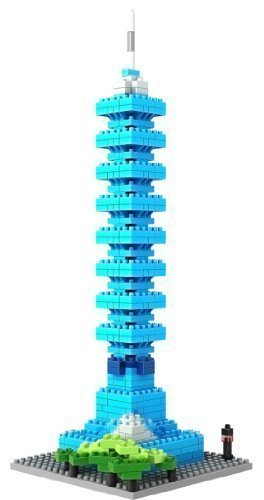 Loz Micro Blocks, Taipei 101 Model, Small Building Block Set, Nanoblock Compatible (390 pcs) - 1