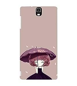 EPICCASE Little Girl with Umbrella Mobile Back Case Cover For Infocus M330 (Designer Case)