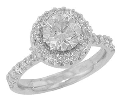 1.90 ct. TW GIA Certified Round Diamond Engagement Ring in 14 kt. Halo Accent Mount