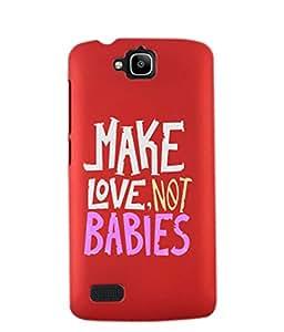 KolorEdge Back Cover For Huawei Honor Holly - Red (2437-Ke15129HonorHollyRed3D)