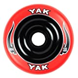 YAK Scat II Metal Core Wheel Red/Black 100mm