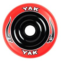 YAK Scat II Metal Core Wheel Red/Black 100mm