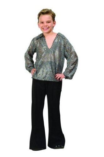 70s Disco Fever - Silver Child Large 12-14 Costume