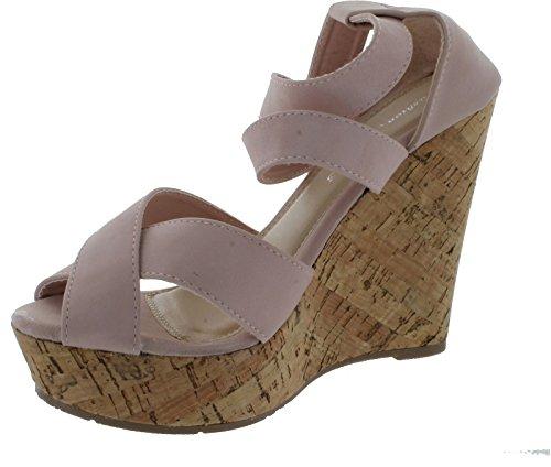 Fashion Focus Joan-2 Women'S Wedge Sandal, Color:Blush, Size:6.5 front-541592