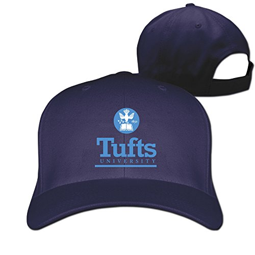 [WG Custom Best Graphic Personalized Tufts University TU Logo Hiphop Caps Hat Navy] (Jumbo Hip Hop Adult Hat)