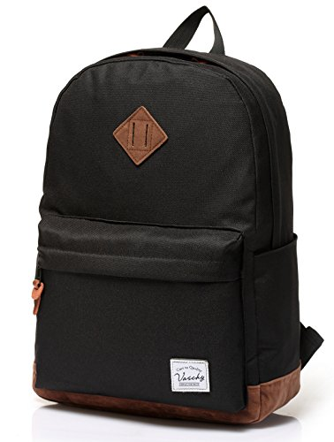 vaschy-unisex-classic-lightweight-water-resistant-campus-school-rucksack-travel-backpack-black-fits-