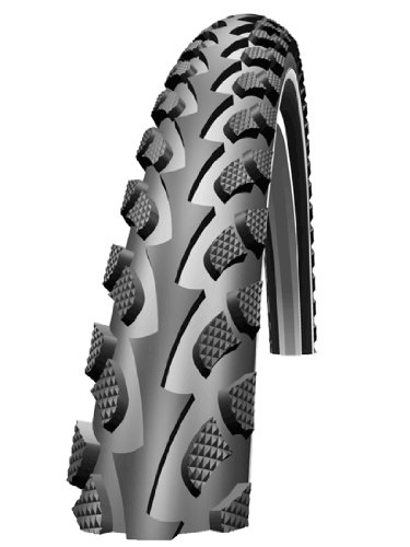 Schwalbe Land Cruiser HS 307 Trekking Cruiser Bicycle Tire (26x1.9, SBC Wire Beaded, Black)