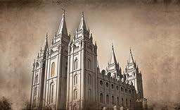LDS Plastic Salt Lake City Utah Temple Photo Temple Recommend Holder - Cambridge Collection - Chad Hawkins Temple Art