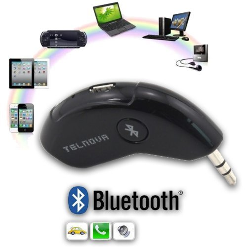Smart Mini Aux Bluetooth Car Kit With Hands Free Calling / Wireless Music Streaming For Android Smartphone'S , Apple Iphone , Blackberry , Tablets, Mp3 Players & More!