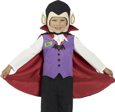 Smiffy's Baby Boy's Vampire Costume Child with Trousers Top Shoe Covers Cape
