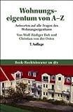 Wohnungseigentum von A - Z. (3423050543) by Wolf-Rüdiger Bub