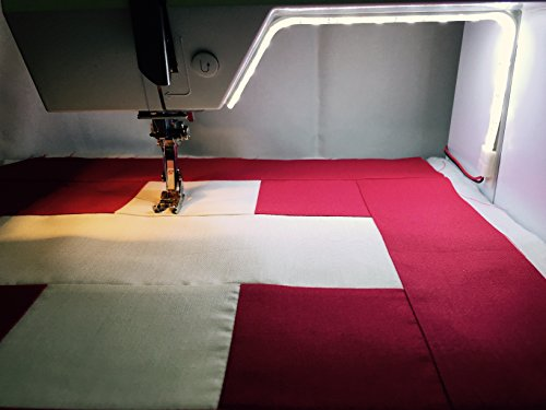 SEWING MACHINE LIGHT - 15 LED Light Ribbon with Power Supply by Red Bandana