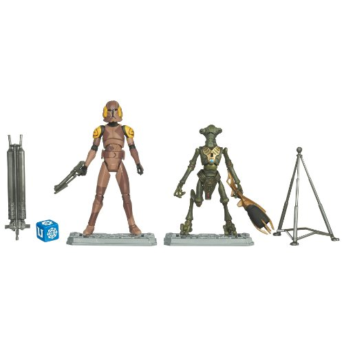 Buy Low Price Hasbro Star Wars 2011 Clone Wars Animated Exclusive Action Figure 2Pack Special Ops Clone Trooper Geonosian (B004CV2Z2E)