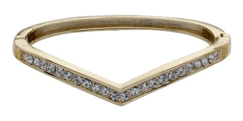 Jodie Rose Crystal Hinged Gold Plated Bangle