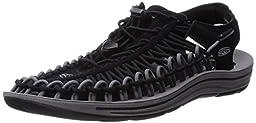 KEEN Men\'s Uneek Sandal, Black Gargoyle, 8.5 M US