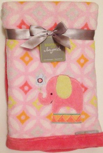 Baby Girl Pink Circus Elephant Plush Blanket