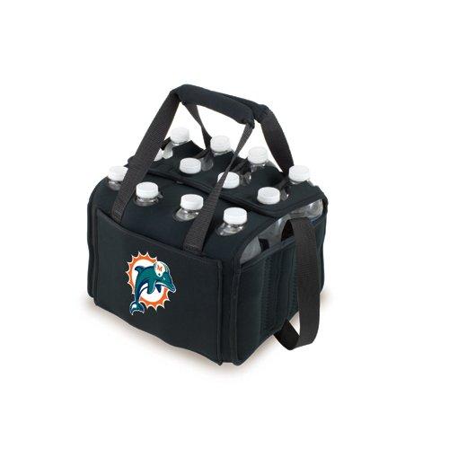 NFL Digital Print Twelve Pack Beverage Carrier NFL Team: Miami Dolphins, Color: Black