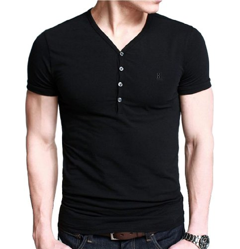 Ilovesia Mens Henley T Shirts With Short Sleeve Slim Fit