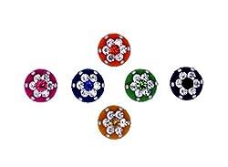 Sunaina Premium Collection Multicolor Medium Size Round Bindis for Women [SPC551]