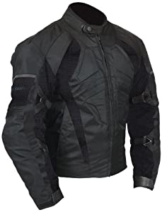 Milano Sport Gamma Motorcycle Air Jacket with Black Mesh Panel (Black, Small)