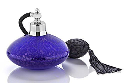 Vaporisateur parfum bas verre bleu poire longue noire 125ml