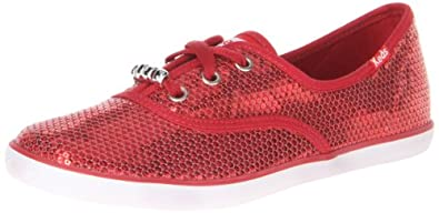 Keds Girls Champion Red Lace-Up Flats KY48707 2 Child UK, 34 EU, 2.5 Child  US
