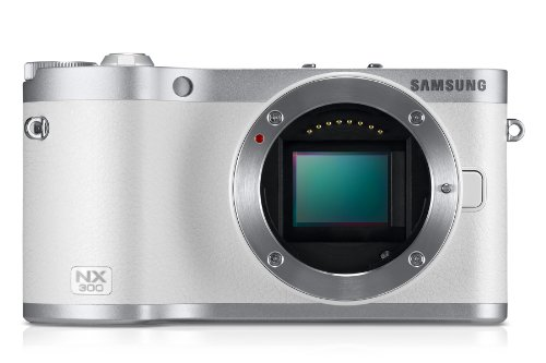 Samsung SMART NX300 Compact System Camera with 20-50mm Lens - White (20.3 MP Black Friday & Cyber Monday 2014