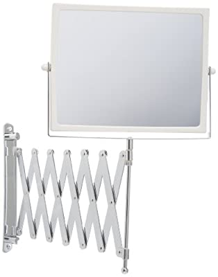 Jerdon 20/20 Hindsight Wall Mount Mirror with 4X Magnification, Chrome Finish, 1 ea
