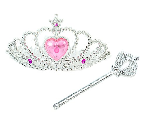18 Inch Doll Princess Tiara & Wand in Pink & Silver for American Girl Dolls & More! 18 Inch Doll Sized Crown & Wand in Pink/Silver