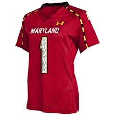 NCAA Maryland Terrapins Ladies #1 Replica Jersey by Under Armour