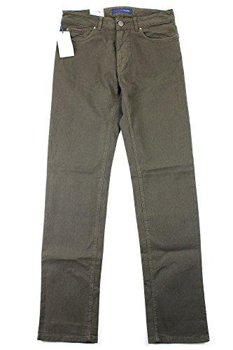 trussardi-mens-classic-straight-leg-jeans-size-33-us-regular-brown-cotton-blend