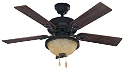 Canarm MIRANDA ORB 2-Light Ceiling Fan, 42-Inch, Walnut