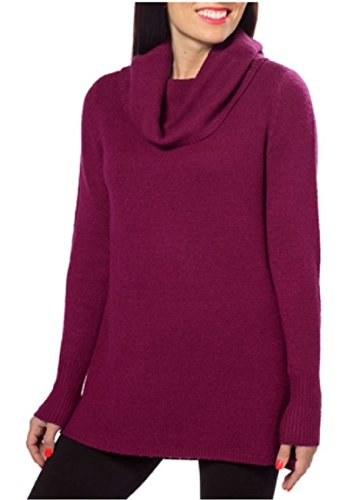 dkny-jeans-womens-cowl-neck-sweater-slight-hi-low-hem-casis-wine-xxl
