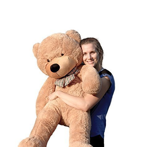 Joyfay-120cm-Giant-Teddy-Bear-47-Light-Brown-Big-Teddy-Bear-XXL-Extra-Large-Plush-Bear-Toy-Best-Gift-for-Birthday-Christmas-Valentine-Anniversary-by-JOYFAY