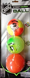 Buy Street Hockey Ball 3 Pack (Extreme Color Ball, Glow in the Dark Ball, & High... by Franklin NHL