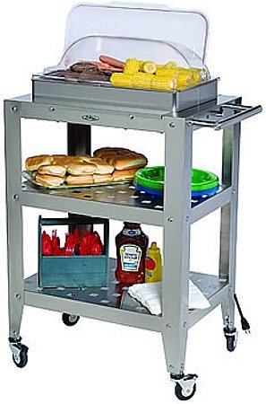 Cheap Double Buffet Warming Cart with clear Rolltop Lid – WBC2RT (B008N7WGJ0)