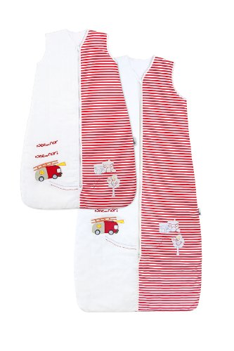 Baby Summer Sleeping Bag approx. 1 Tog - Fire Engine - 12-36 months/43inch - 1