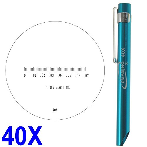"""Igaging Pocket Scope Magnifier Scale 40X Magnification Microscope Scale Range 0-0.07"""" 0.082"""" Field Of View"""