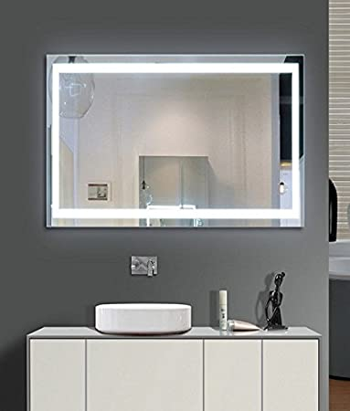 Lighted bathroom mirror 55 x 36 in