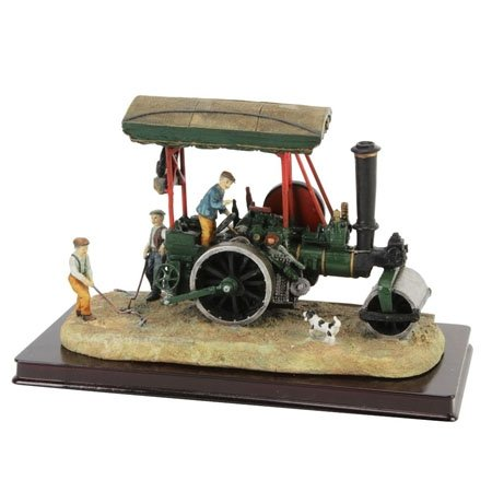 Steam roller ornament