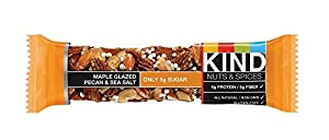 KIND Nuts & Spices oqufs Bars - Maple Glazed Pecan & Sea Salt - 24 Count from KIND