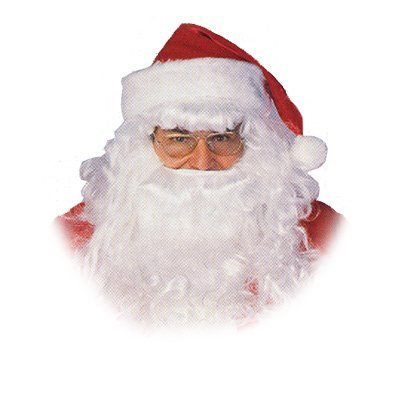 California Costumes Men's Santa Claus Beard and Wig Set, White, One Size
