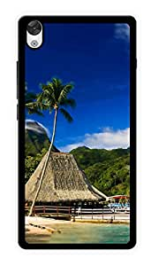 "Humor Gang Beach Shack Printed Designer Mobile Back Cover For ""OnePlus X"" (2D, Glossy, Premium Quality Snap On Case)"