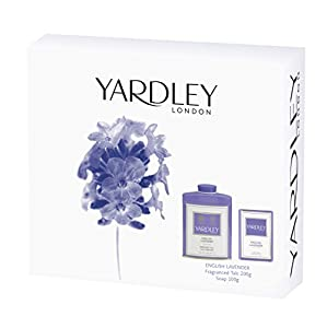 Yardley London English Lavender Gift Set contains Talc 200