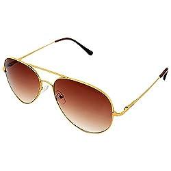 Allen Cate UV Protected Aviator Men's Sunglasses (ACAVGoldenBrown|51|Brown)