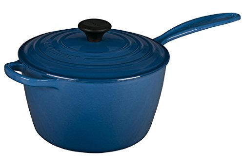 Le Creuset LS2518- 2059 Signature Cast Iron Sauce Pan, 3.25-Quart, Marseille