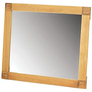 solid oak wall mirror living room hanging mirror